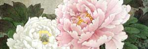 Peonies in Spring - one of many meticulous Chinese paintings by Du Yuxi